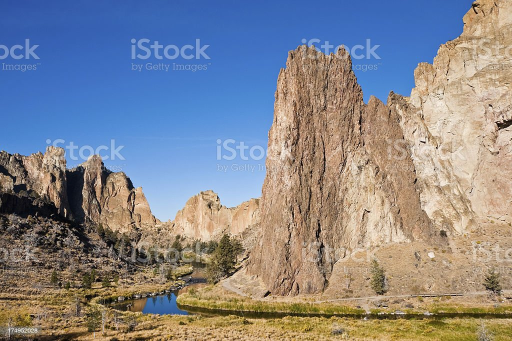 Smith Rock and the Crooked River royalty-free stock photo