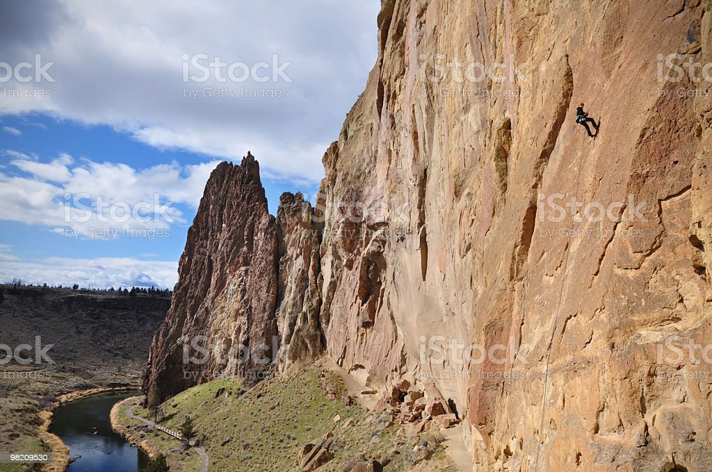 Smith Rock Climbing royalty-free stock photo