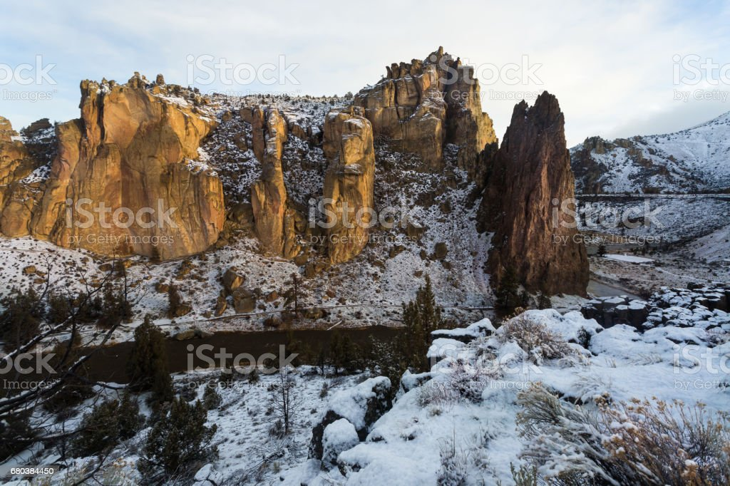 Smith Rock in Oregon royalty-free stock photo