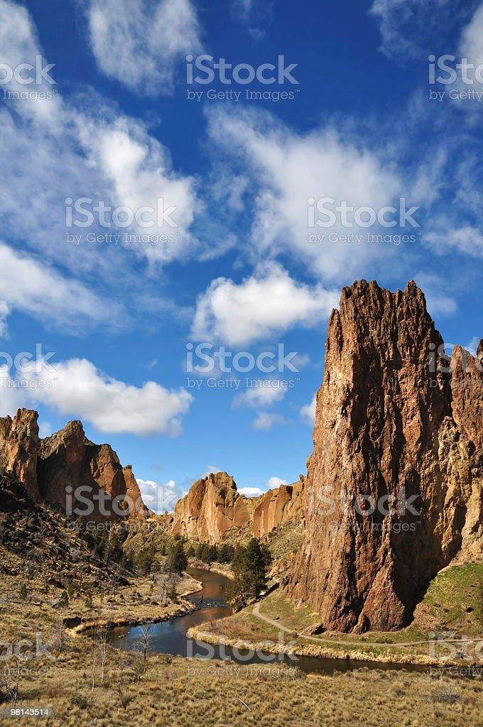 Smith Rock Landscape royalty-free stock photo
