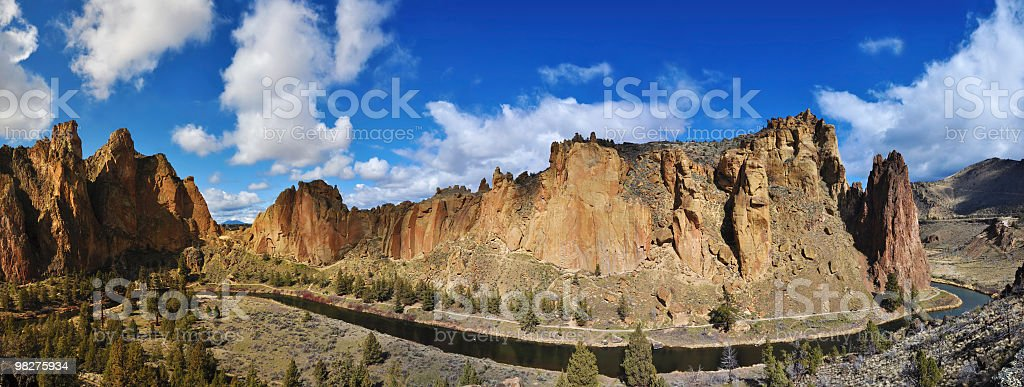 Smith Rock Panorama royalty-free stock photo