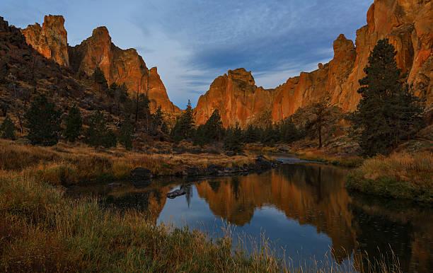 Smith Rock Park, Central Oregon stock photo