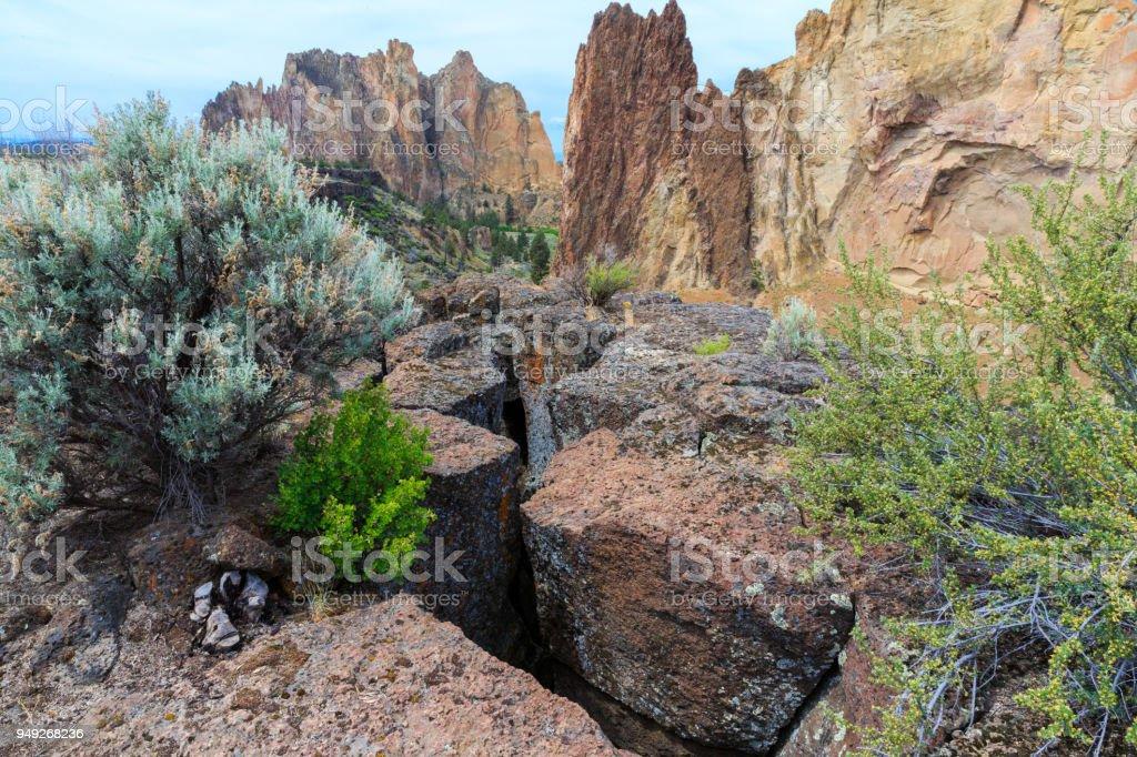 Smith Rock State Park, Oregon stock photo