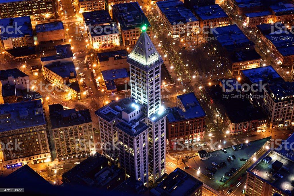 Smith Tower, Seattle stock photo