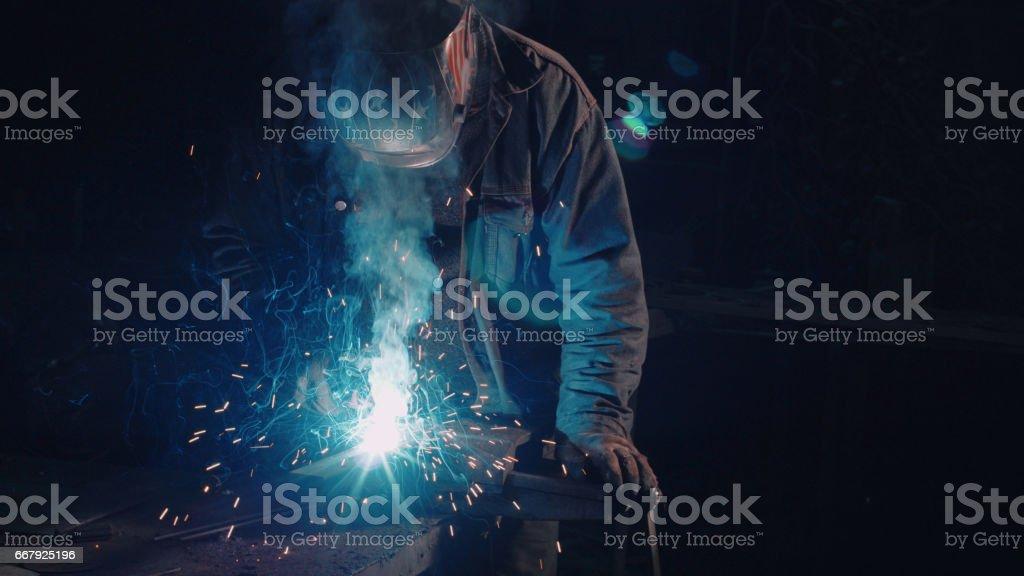 Smith welding metal details - foto de stock