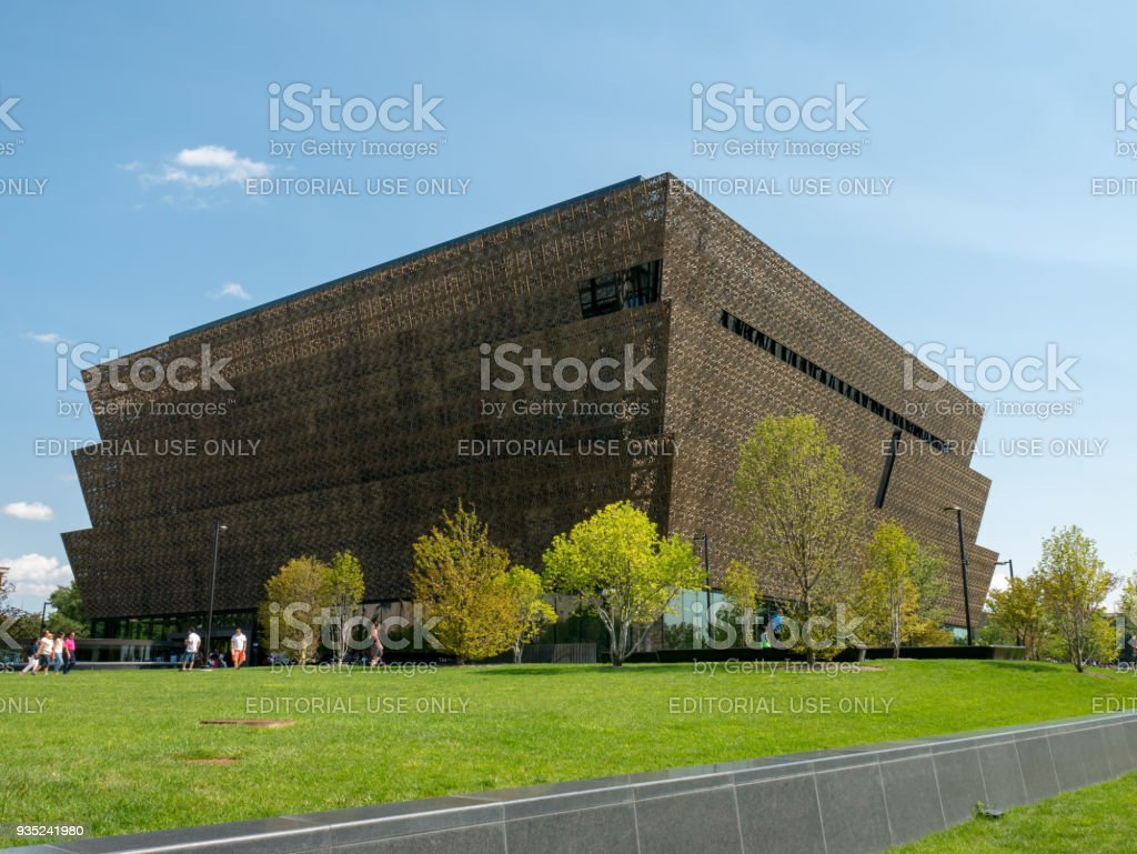 Smithsonian National Museum of African American History and Culture completed outdoor view stock photo
