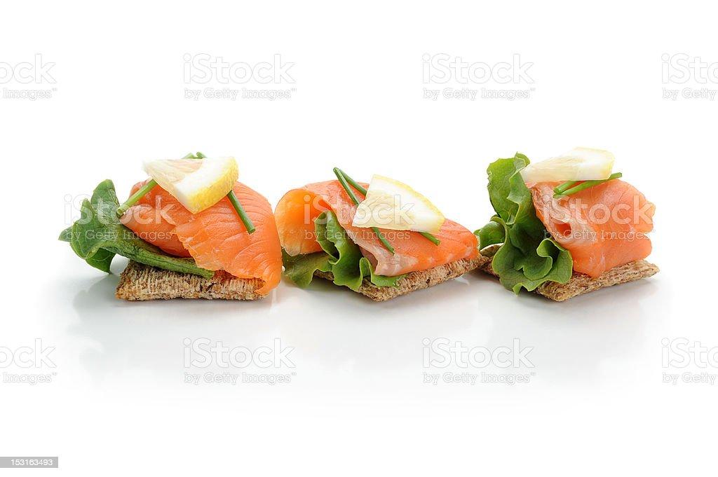 Smocked Salmon Snack royalty-free stock photo