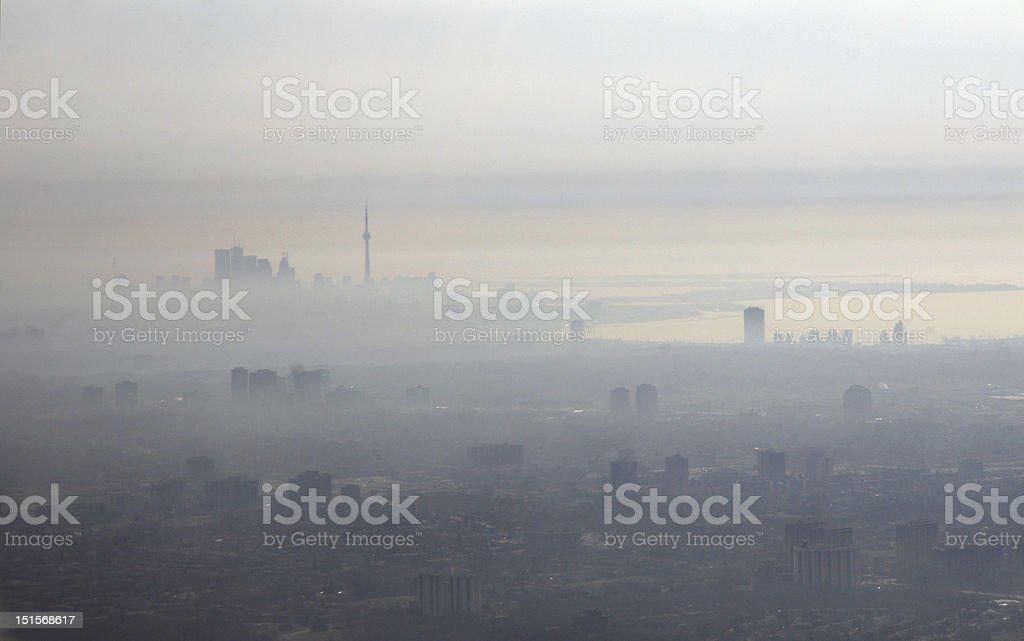 Smog City royalty-free stock photo