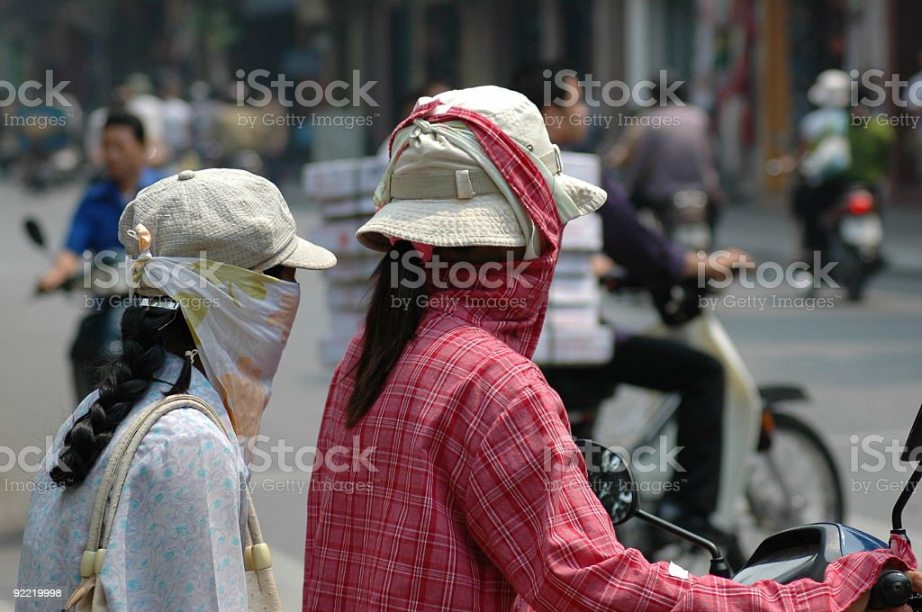 Smog in Vietnam royalty-free stock photo