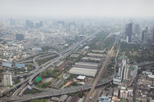 istock Smog over Bangkok in city center 466973128