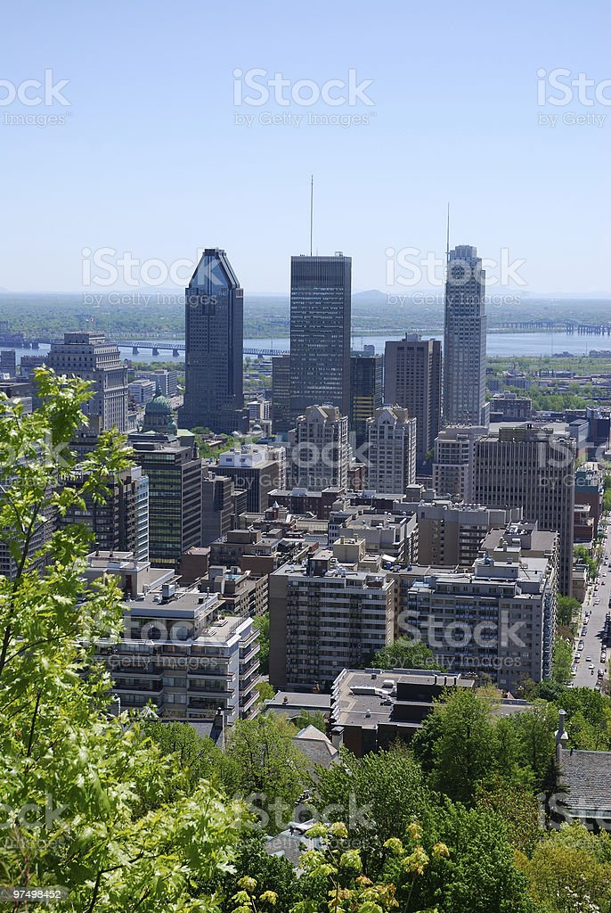 Smog over Montreal royalty-free stock photo