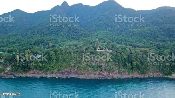 Photo of Smog over the island of Koh Chang. Green hills