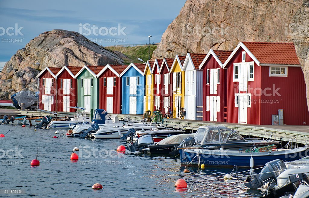 Smogen is a little fisher town in Sweden stock photo