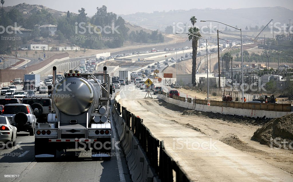 Smoggy Commute stock photo