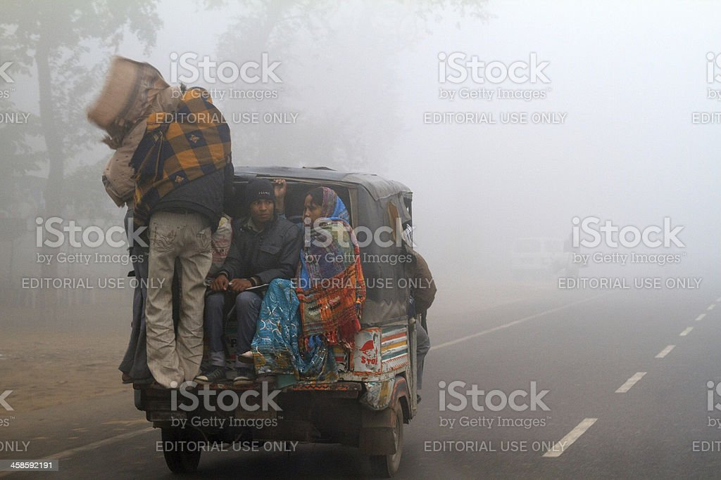 Smoggy conditions in India stock photo
