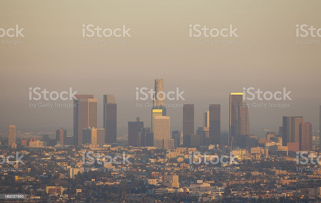 Smoggy Los Angeles stock photo