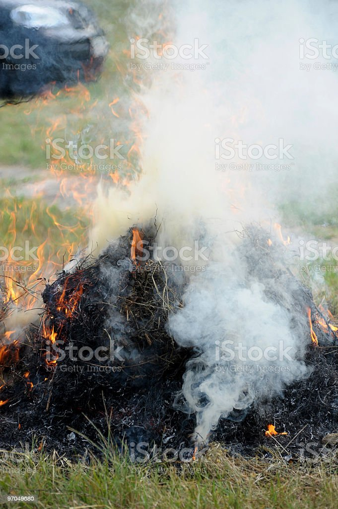 smok from fires royalty-free stock photo