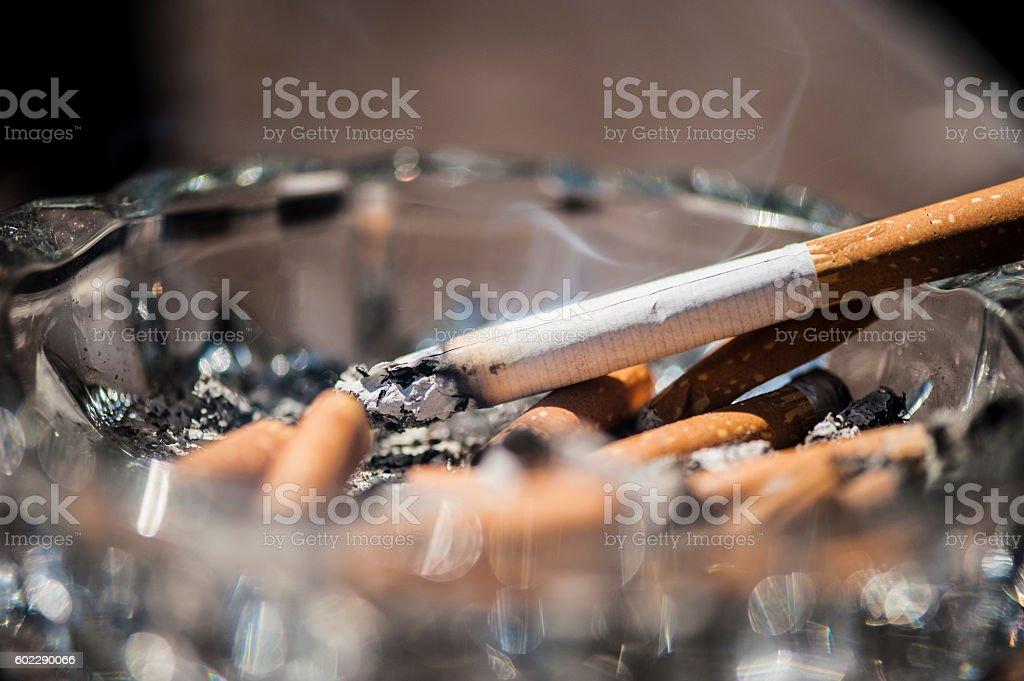 Smoke a cigarette stock photo