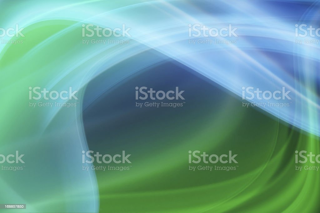 Smoke abstract in blue and green royalty-free stock photo