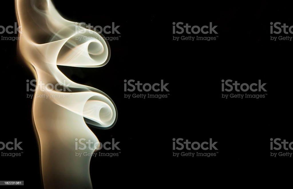 Smoke abstract on black  background stock photo