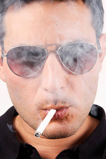 Smoke all over stock photo