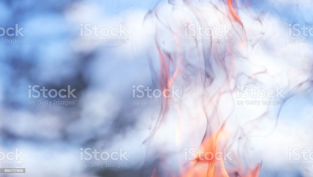 Smoke and flame background stock photo