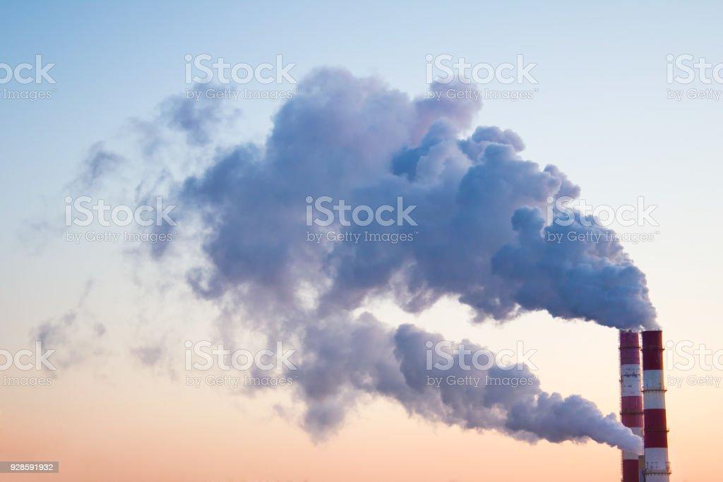 Smoke and fumes stock photo