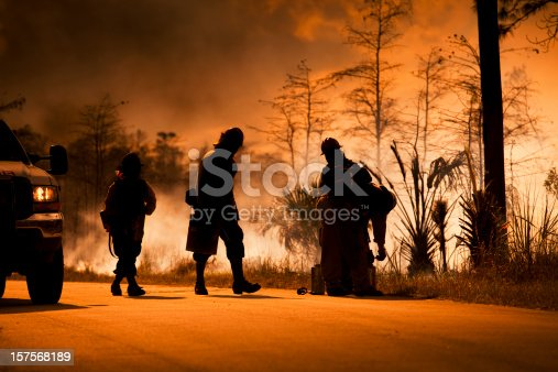 istock Smoke and wilderness emergency 157568189