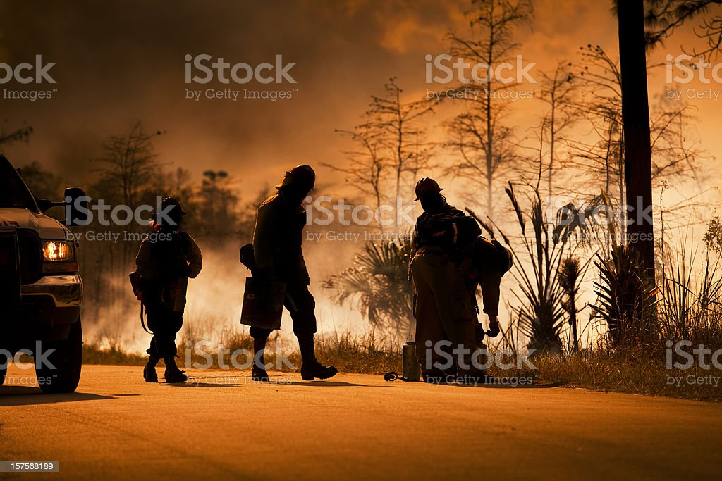 Smoke and wilderness emergency stock photo