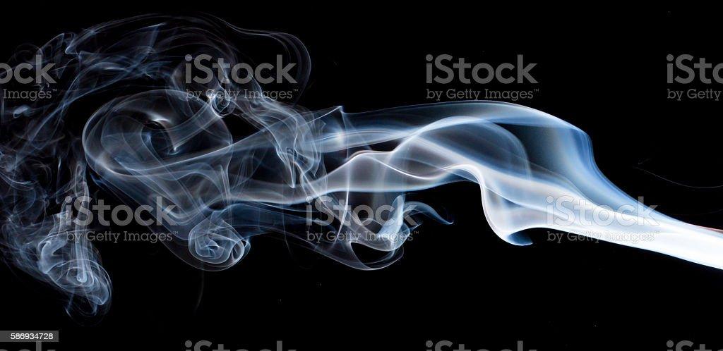 smoke art on black background stock photo