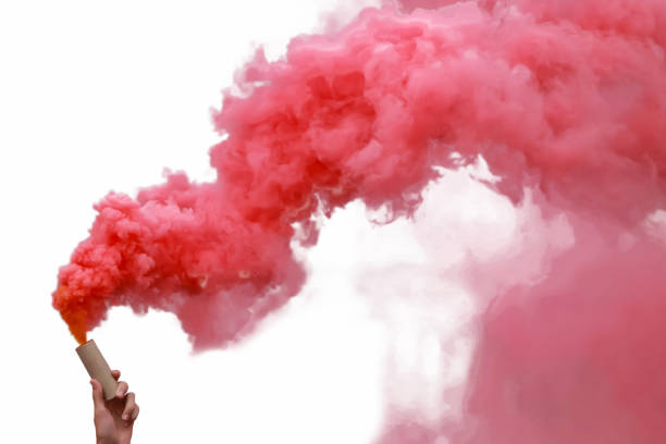 smoke bombs with red smoke picture
