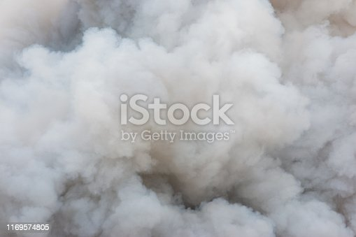 istock Smoke caused by explosions. 1169574805