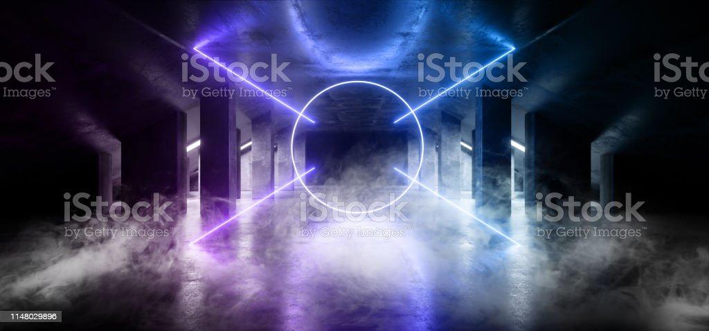 Smoke Circle Glow Sci Fi Neon Modern Futuristic VIbrant Glow Purple...