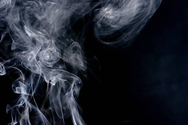 Smoke cloud, animal from smoke, smoke rings stock photo