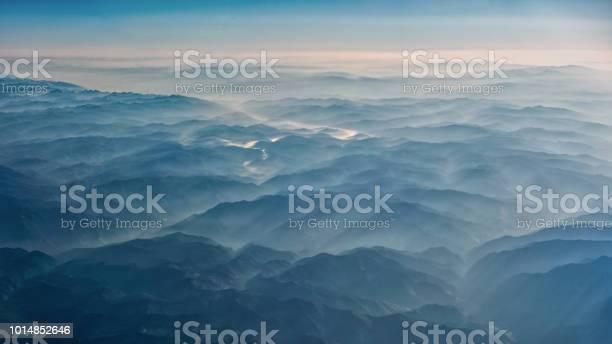 Photo of Smoke covered mountains