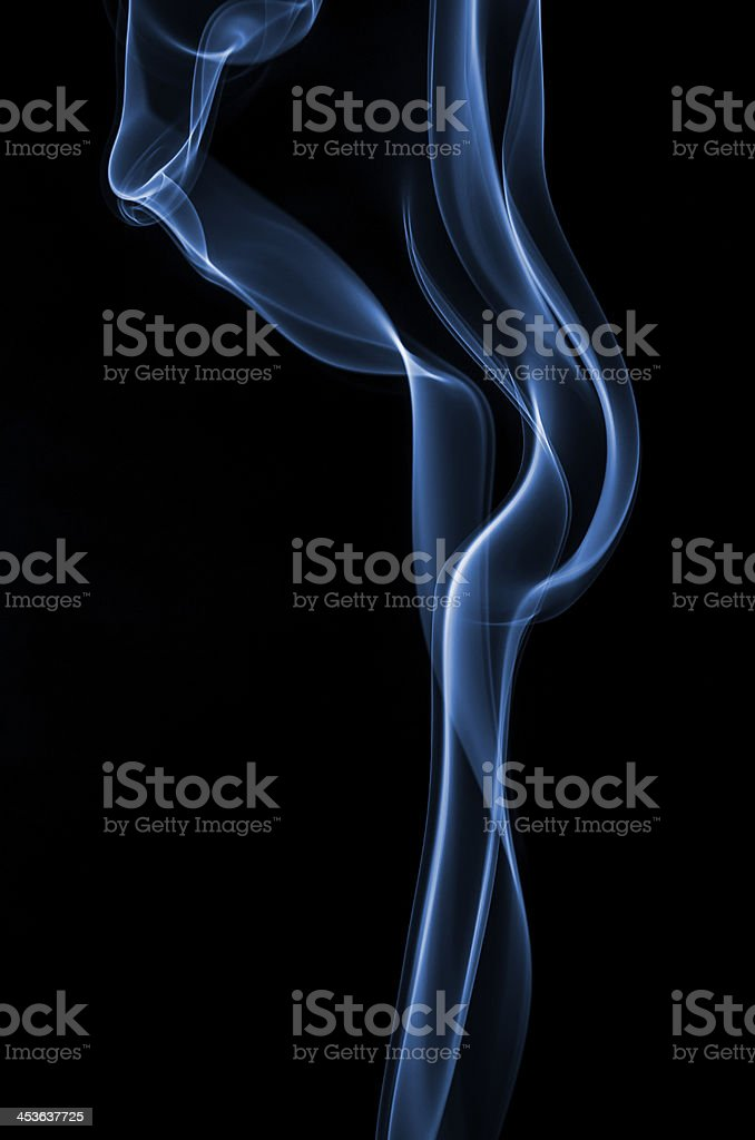 Smoke curve royalty-free stock photo