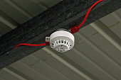 Fire safety, ceiling mounted fire/smoke detector