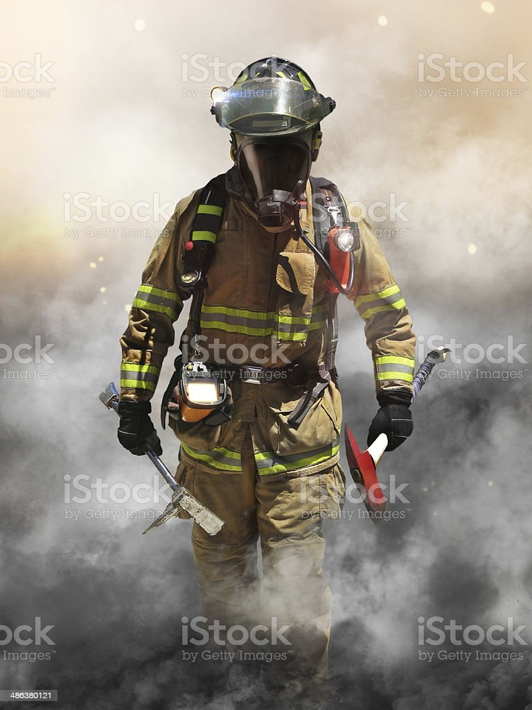 Smoke eater stock photo