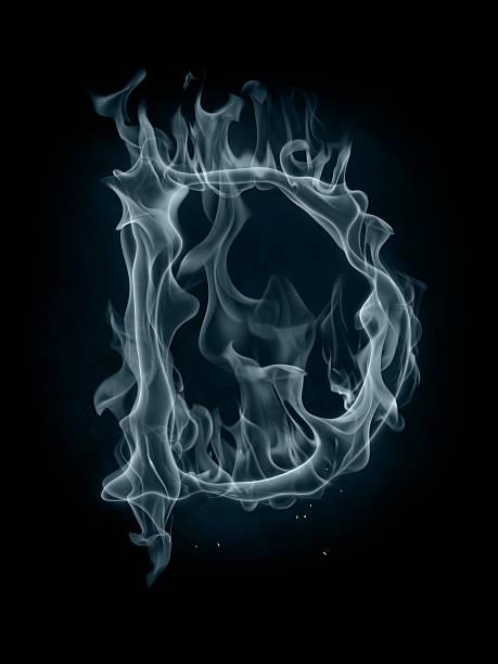 Smoke font. Letter D. stock photo