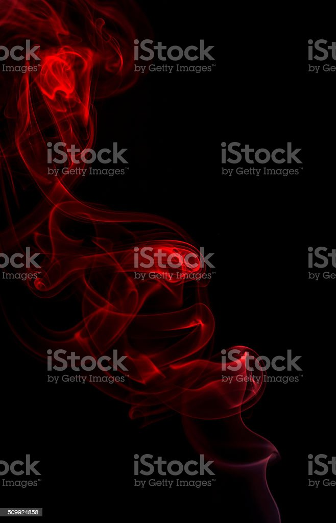 Smoke fragments on a black background stock photo