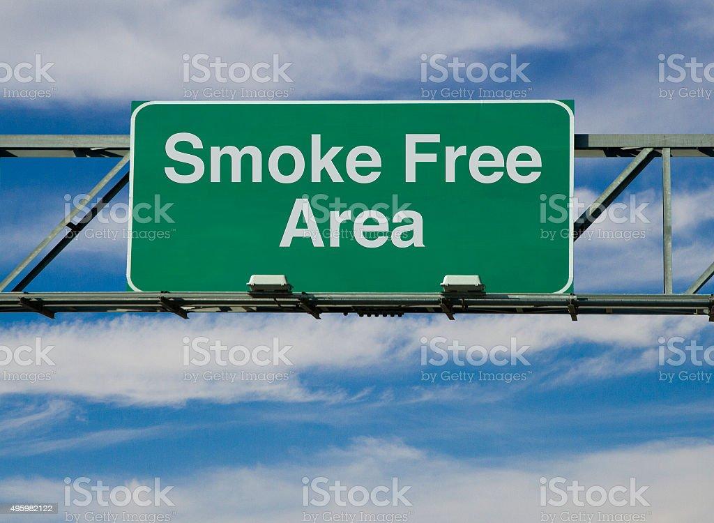 Smoke Free Area stock photo