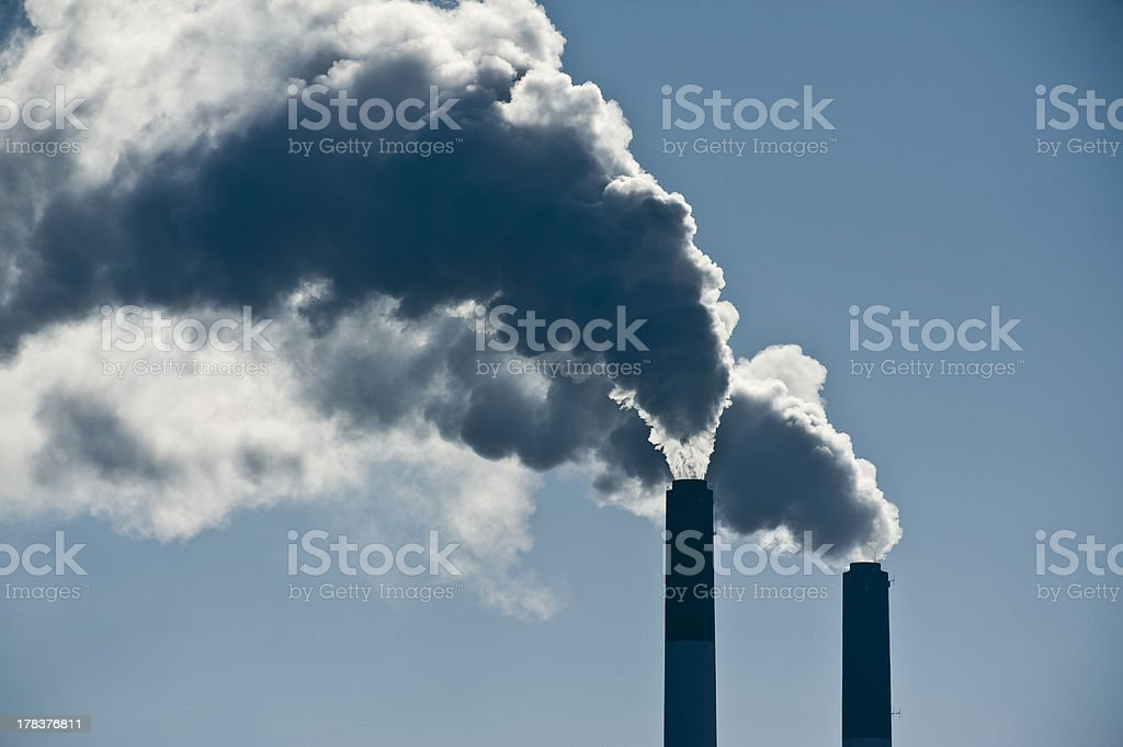 Smoke from Chimney stock photo