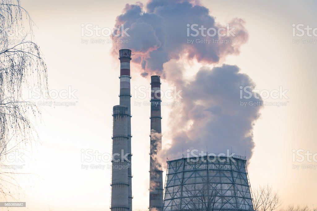 Smoke from factory pipes royalty-free stock photo