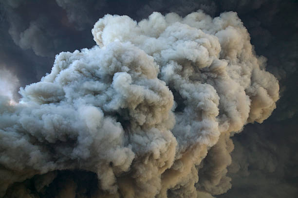 smoke from fire - thick stock pictures, royalty-free photos & images