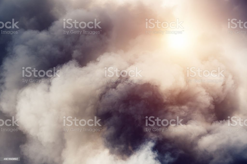 Smoke From Fire stock photo