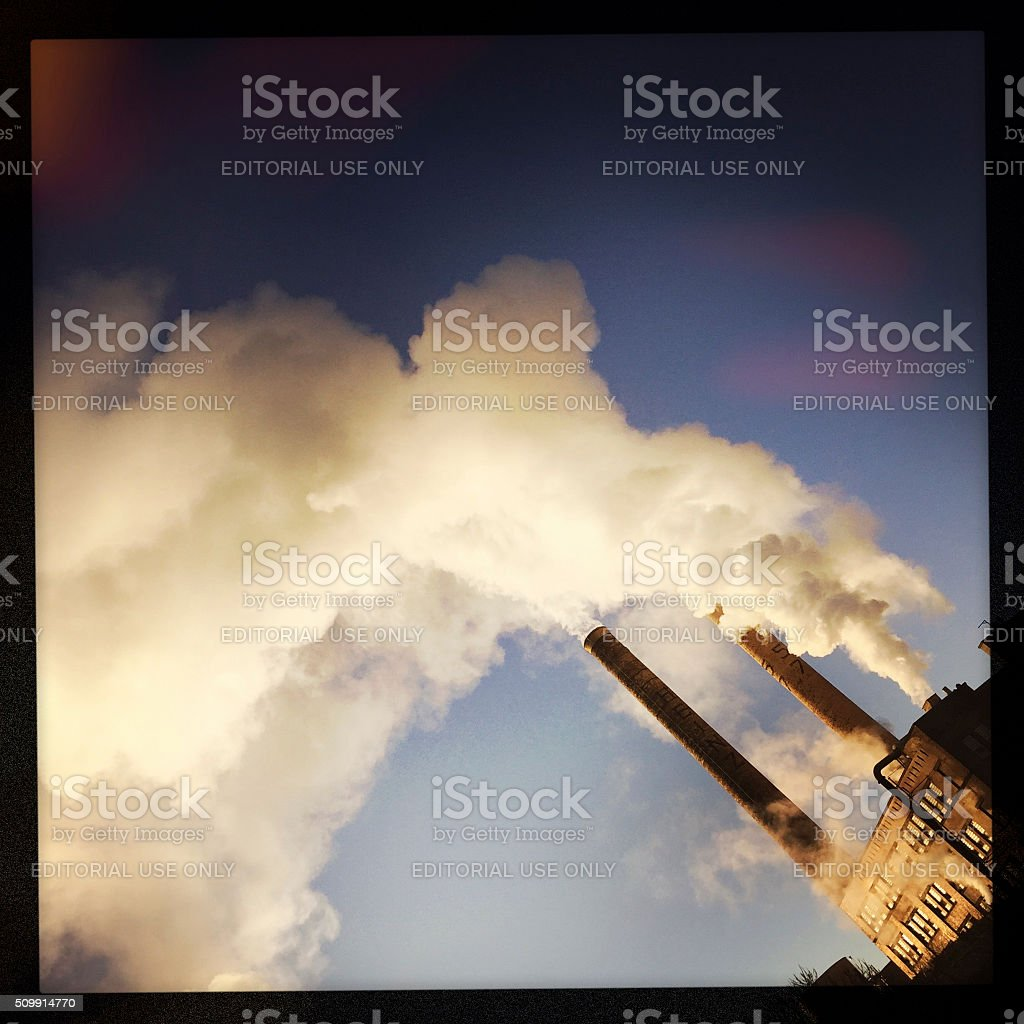 Smoke from Heinz Plant in Pittsburgh stock photo