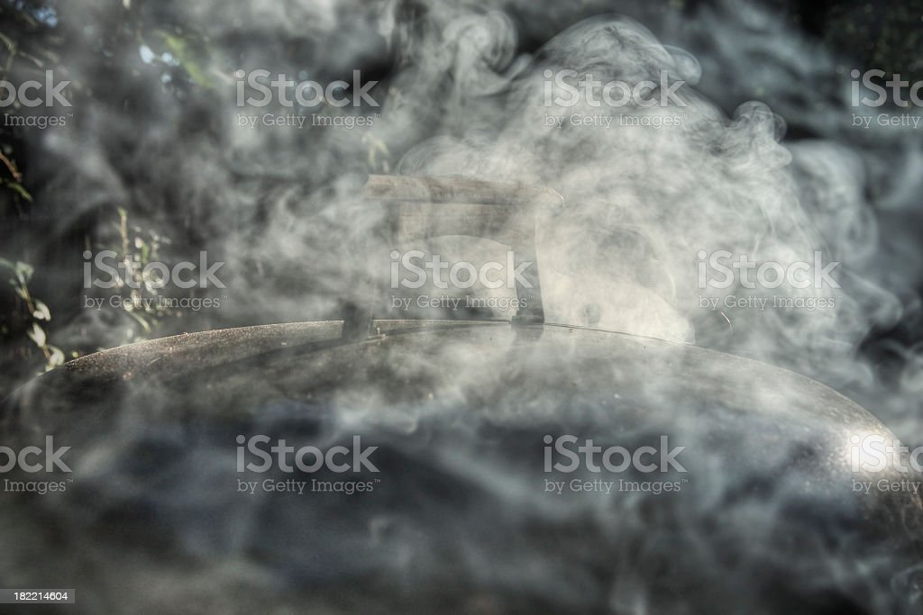Smoke from the Barbecue stock photo