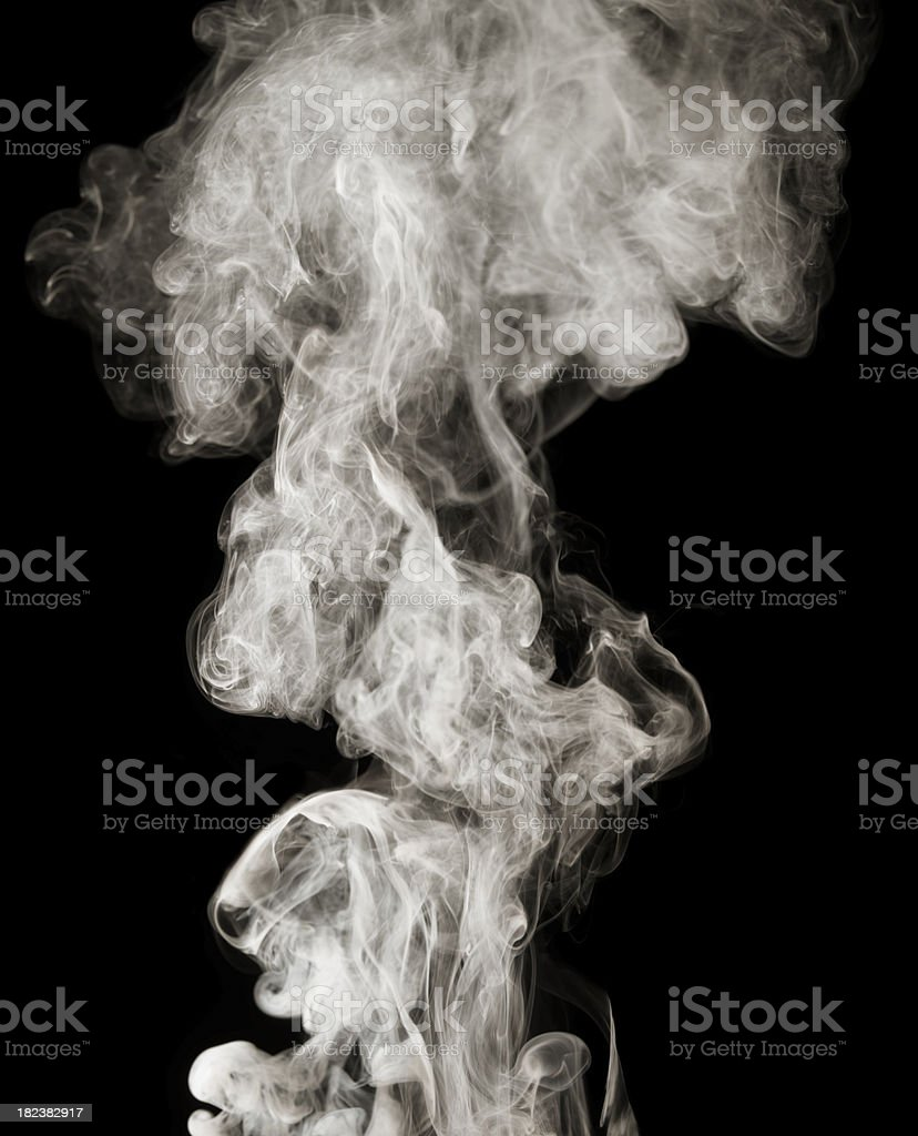 Smoke from the bbq grill royalty-free stock photo