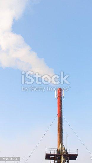 istock Smoke from the boiler tube. 528796341
