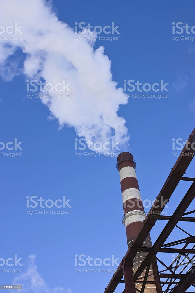 Smoke from the pipe royalty-free stock photo